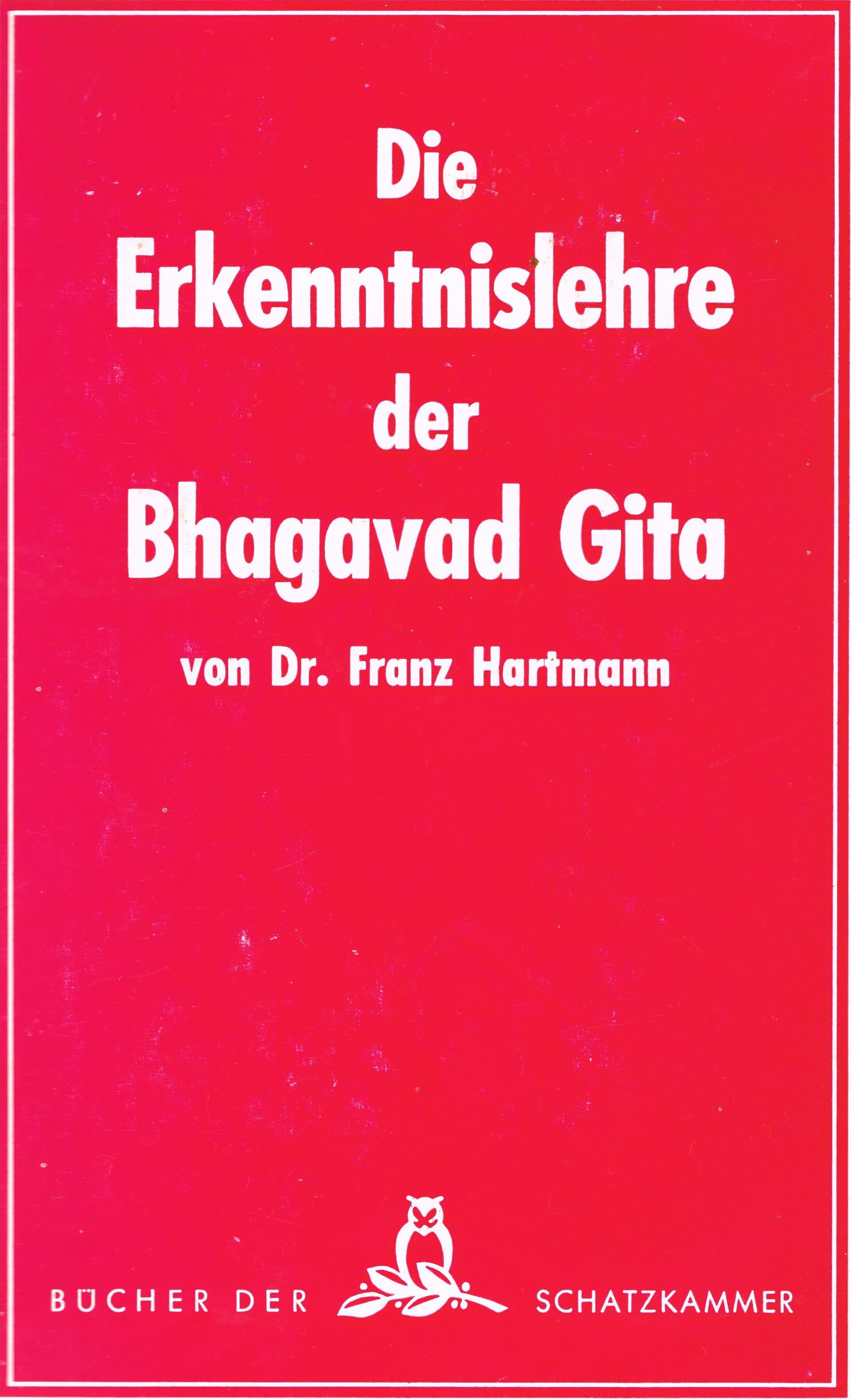 Die Erkenntnislehre der Bhagavad Gita
