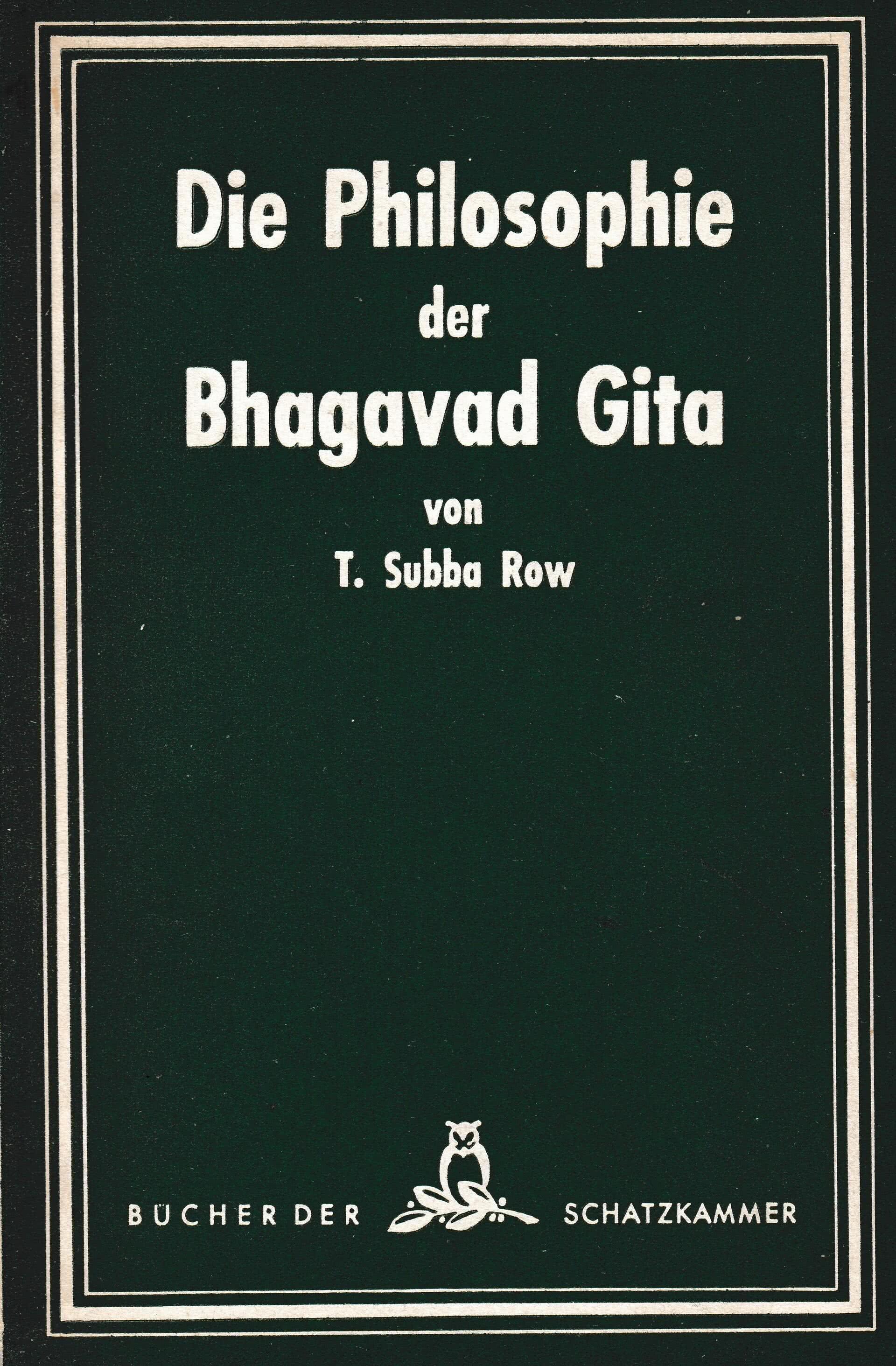 Die Philosophie der Bhagavad Gita